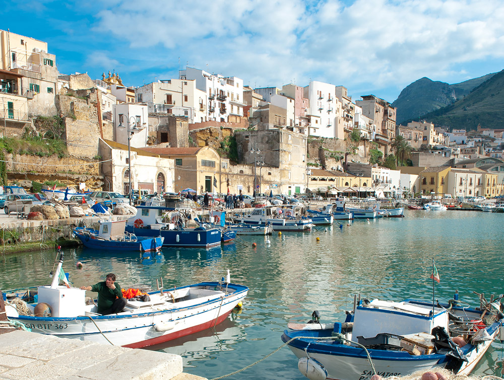 The harbor of Castellammare del Golfo