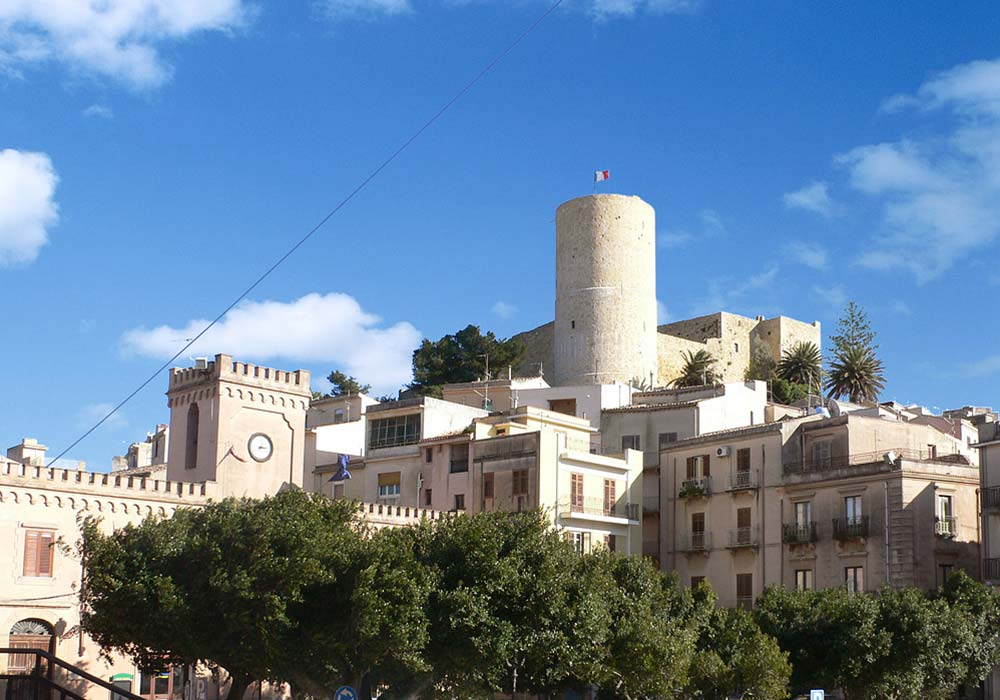 The castle and old town center of Salemi