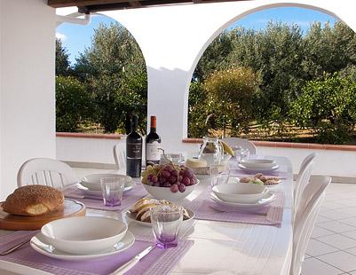 On Casa Giudeo's porch in Balestrate in Sicily