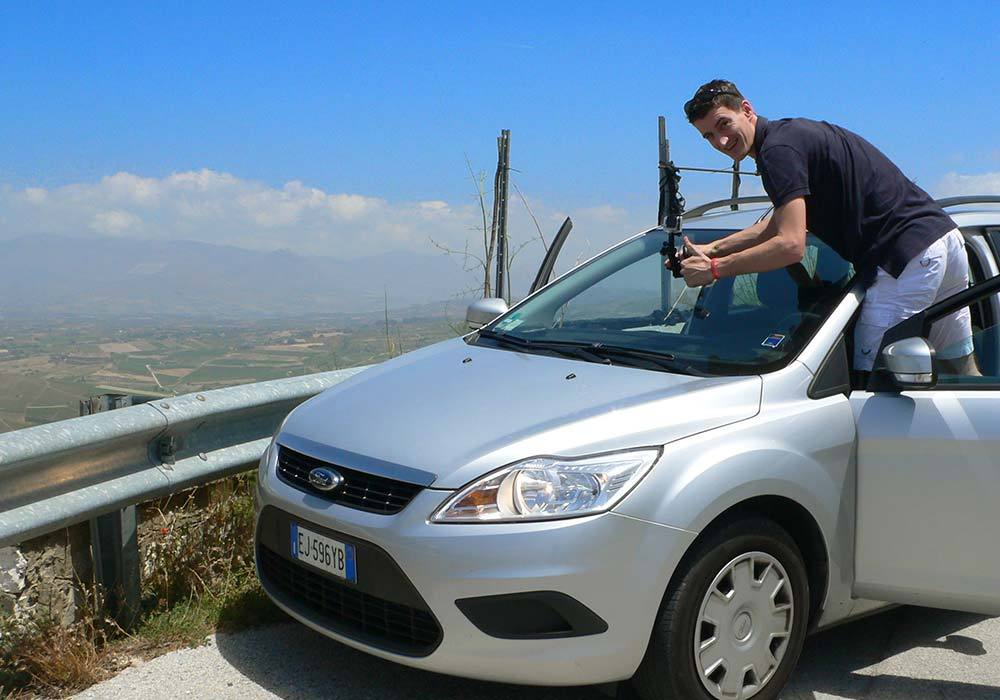 Filmen op de Monte Bonifato voor de Bosco d'Alcamo RLV
