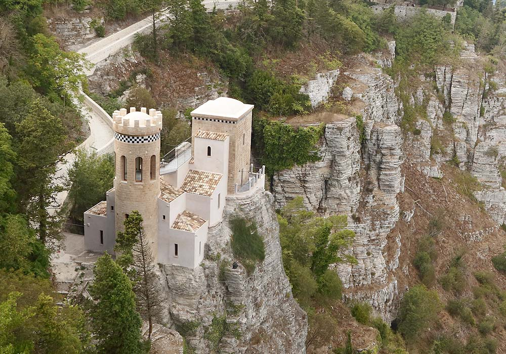 The Torretta Pepoli in the medieval town of Erice