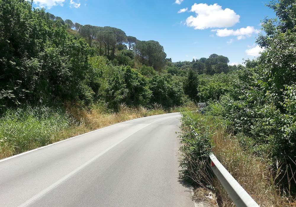 Op de SS113 richting Trapani
