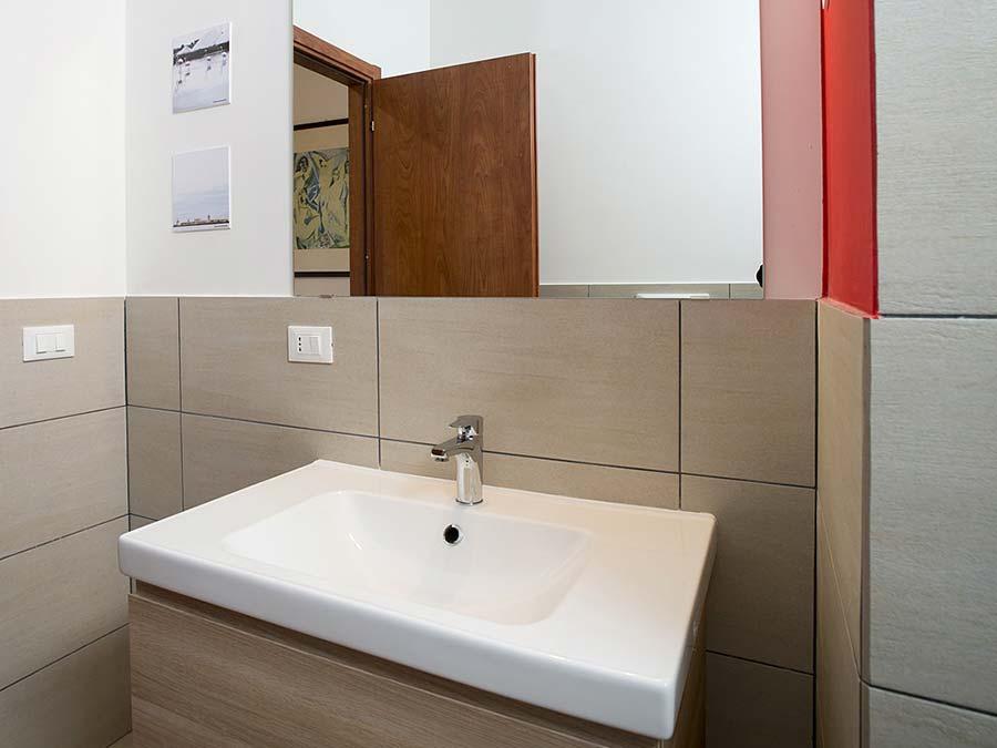 The bathroom of Appartamento Macaone