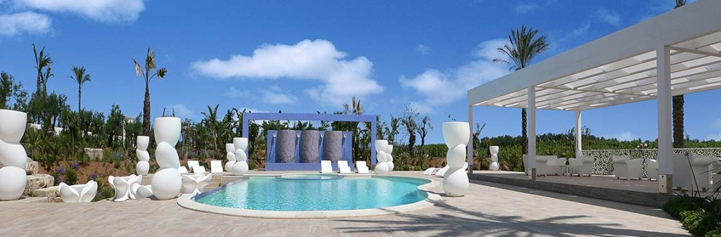 The swimming pool in the Borgo delle olive in Balestrate in Sicily