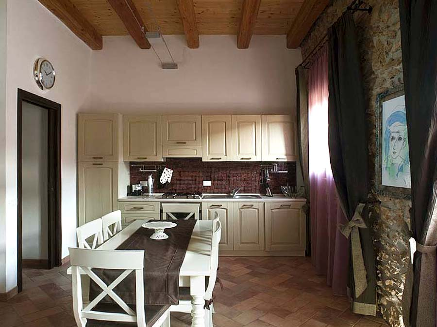 The kitchen of Appartamento Carolea