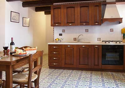 The kitchen of Appartamento della Baronessa