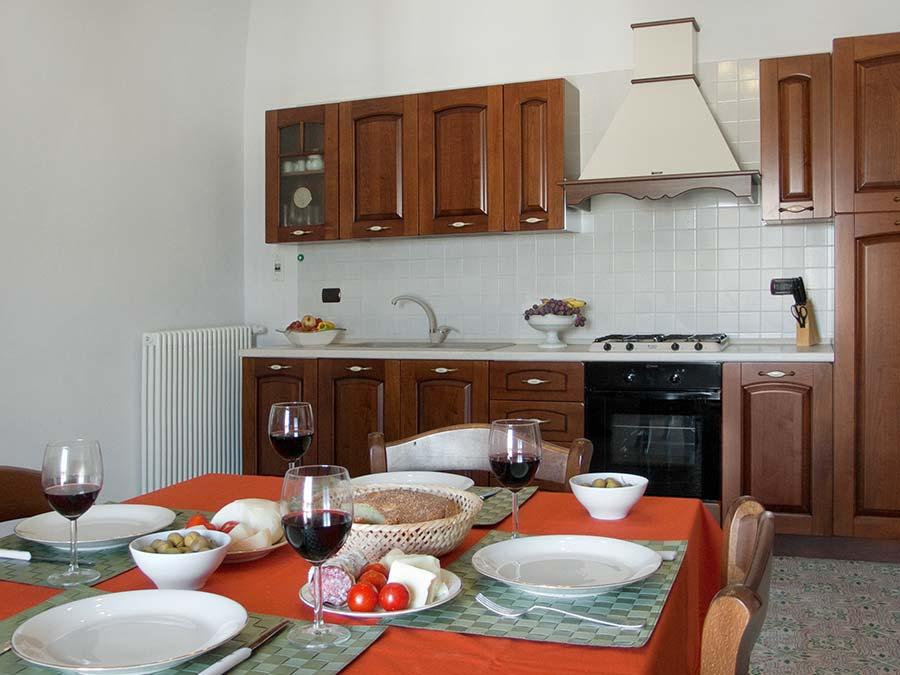 The kitchen of Appartamento del Barone