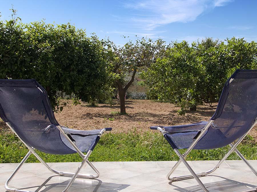 On the terrace of Casa nell'antico baglio