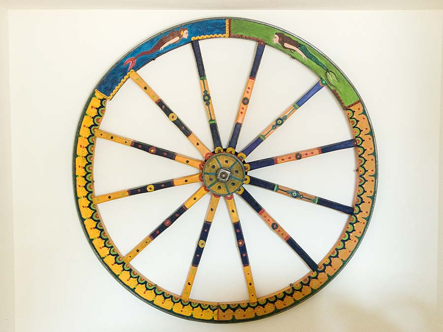 An original wheel of a carretto Siciliano